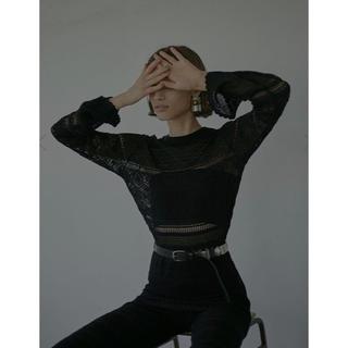 アメリヴィンテージ(Ameri VINTAGE)のameri  vintage【即完売】LACY FUSUMA KNIT TOPS(ニット/セーター)