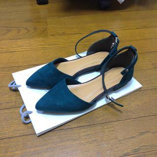 ショコラフィネローブ(chocol raffine robe)の濃緑 フラット靴(その他)