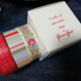 キャスキッドソン(Cath Kidston)の新品未使用 キャス・キッドソン風 海外マスキングテープ 3ロールセット(テープ/マスキングテープ)