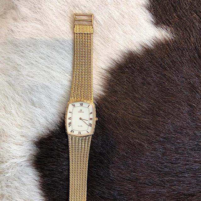 OMEGA - 【OH済】オメガ  デビル スクエア ゴールド レディース メンズ 腕時計の通販 by LMC|オメガならラクマ