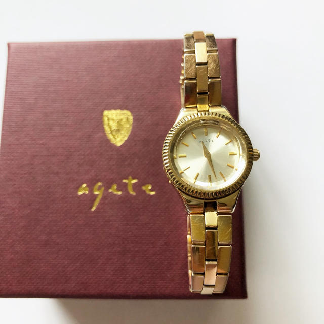 agete - 【電池交換済み】 agete アガット ジュエリーウォッチ 腕時計 ゴールドの通販 by 一部SALE価格!|アガットならラクマ