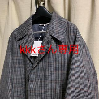 コモリ(COMOLI)のオーラリー  ガンクラブチェックコート サイズ3 極美品(ステンカラーコート)