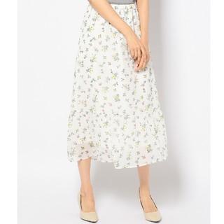 エニィスィス(anySiS)のanySiS FLOWERヨーリューシフォン スカート  (ロングスカート)