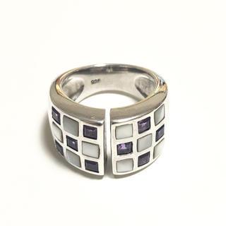 シルバー925  アメジスト シェル リング(リング(指輪))