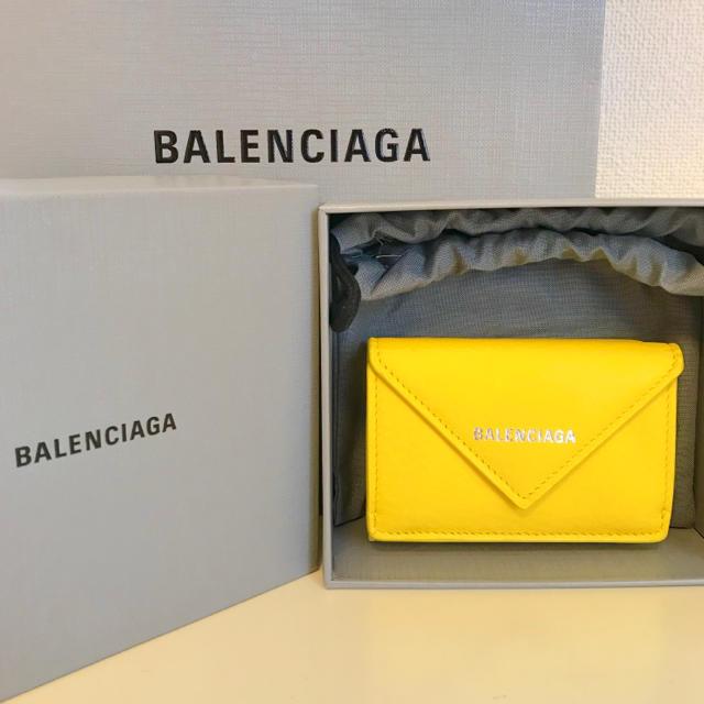 Balenciaga - ラスト1点!【新品】バレンシアガ ペーパーミニウォレット イエローの通販 by りぃ's shop|バレンシアガならラクマ