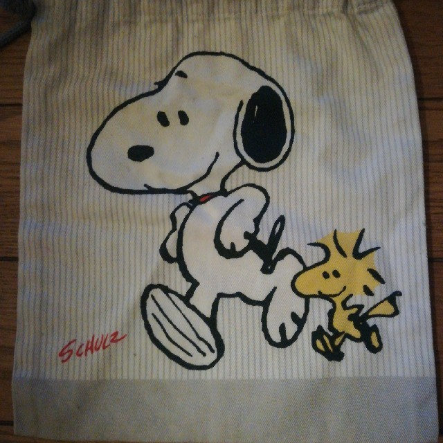 SNOOPY(スヌーピー)のスヌーピー巾着 キッズ/ベビー/マタニティのこども用バッグ(ランチボックス巾着)の商品写真