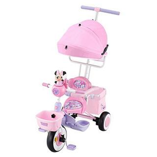 ディズニー(Disney)のえみり様専用☆タッチフォンカーゴ ディズニー ミニー 三輪車 ピンク(三輪車)