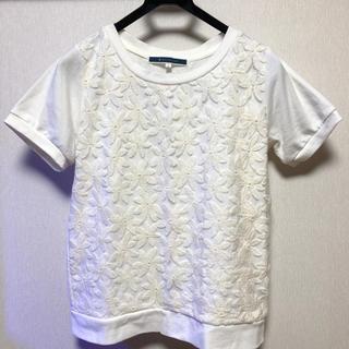 ジエンポリアム(THE EMPORIUM)の刺繍 花柄 カットソー(カットソー(半袖/袖なし))