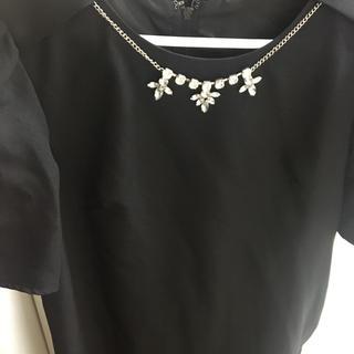 フォーマルワンピース ドレス ブラック(ひざ丈ワンピース)