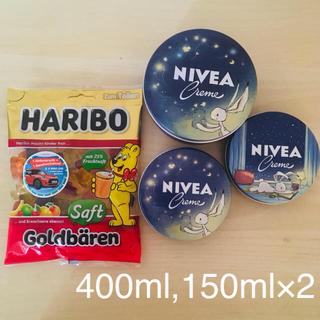 ニベア(ニベア)の【日本未発売】限定NIVEA 400ml 大缶,150ml×2 と ハリボー(ハンドクリーム)