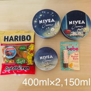 ニベア(ニベア)の【日本未発売】限定NIVEA 400ml 大缶x2,150ml  と ハリボー(ハンドクリーム)