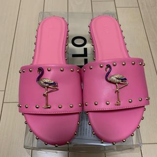 イエローブーツ(Yellow boots)のYELLO ピンクサンダル フラミンゴ(サンダル)