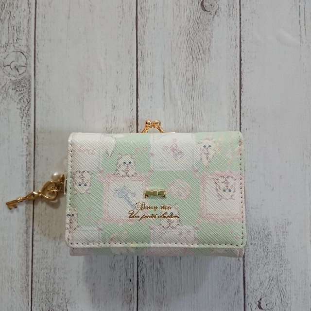デイジーリコ  ミニ財布 ドリーミングキャット ミント  財布 がま口 ネコの通販 by リコ's shop|ラクマ