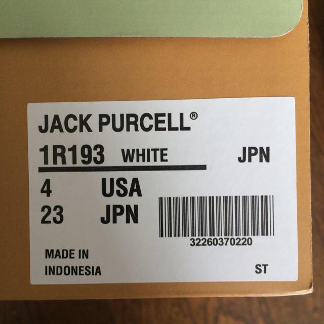 CONVERSE(コンバース)のジャックパーセル 白 23センチ レディースの靴/シューズ(スニーカー)の商品写真
