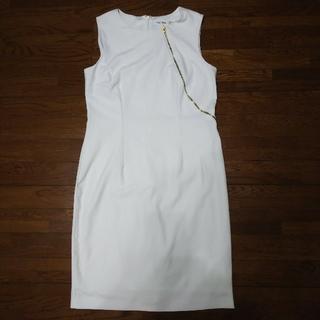 カルバンクライン(Calvin Klein)のカルバンクライン ワンピース 白 ホワイト 15号(ひざ丈ワンピース)