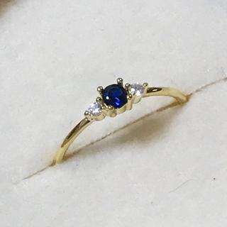 リング 指輪 CZ ダイヤ サファイア 18号 エテ アガット 好き♡(リング(指輪))