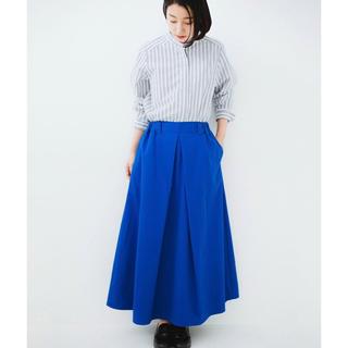 ハコ(haco!)のロングシーズン楽しめる タックボリュームのチノロングスカート(ロングスカート)