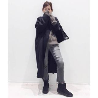 アパルトモンドゥーズィエムクラス(L'Appartement DEUXIEME CLASSE)の新品未使用☆アパルトモン☆ Oversized LAMB Coat/ブラック(ロングコート)