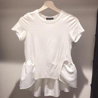 バーニーズニューヨーク(BARNEYS NEW YORK)のヨーコチャン 白tシャツ 36(Tシャツ(半袖/袖なし))