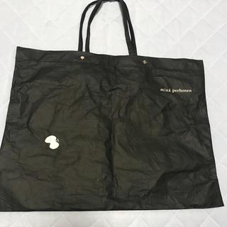 ミナペルホネン(mina perhonen)のミナペルホネン ショップバッグ 黒(ショップ袋)