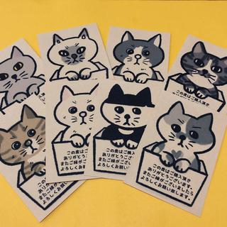 サンキューカード 猫8柄(カード/レター/ラッピング)