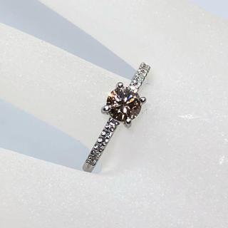 pt900 ブラウンダイヤリング 14号 0.79ct ダイヤモンド リング(リング(指輪))