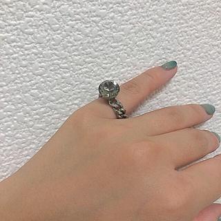 ビックストーン チェーンリング(リング(指輪))