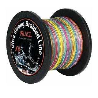 高強度 PEライン 釣り糸 8編 5色 マルチカラー  0.6号 500m(釣り糸/ライン)