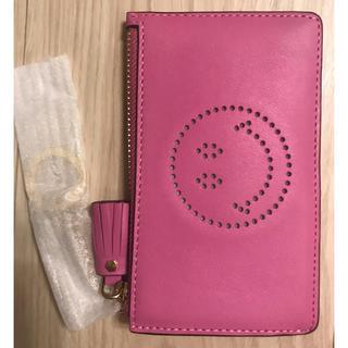 アニヤハインドマーチ(ANYA HINDMARCH)の新品 Zipped Card Key Case  名刺入れ コイン入れ ピンク(名刺入れ/定期入れ)