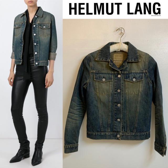 HELMUT LANG(ヘルムートラング)のHELMUT LANG VINTAGE イタリア製 ヴィンテージデニムジャケット レディースのジャケット/アウター(Gジャン/デニムジャケット)の商品写真