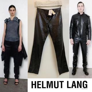 HELMUT LANG - HELMUT LANG VINTAGE ITALY製 新品 レザーパンツ 男女