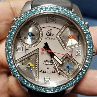 ウブロ(HUBLOT)の超激安限定大幅値下げ ジェイコブ 47ミリ ダイヤ&ブルートパーズ(腕時計(デジタル))