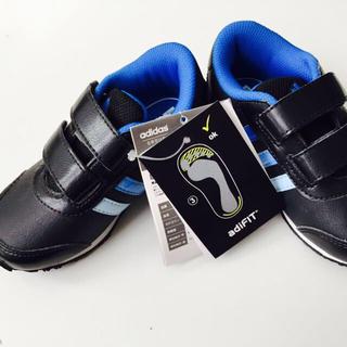 アディダス(adidas)のベビー adidas 14㌢ ブル/ブラ(スニーカー)