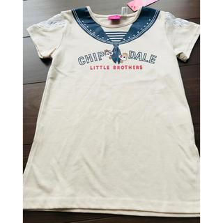 チップアンドデール(チップ&デール)の即完売品 レア ‼️レース付きロング丈‼️チップとデール ディズニー Tシャツ(その他)