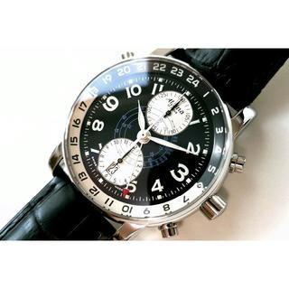 インターナショナルウォッチカンパニー(IWC)の希少!短期◆Alpina STARTIMER GMT◆AL7504R16◆OH済(腕時計(アナログ))
