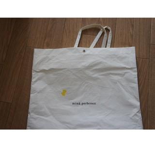 ミナペルホネン(mina perhonen)のミナペルホネン ショッパー ホワイト(ショップ袋)