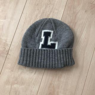 リー(Lee)のLEE リー 秋冬ニット帽 杢グレー S(帽子)