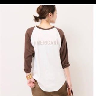 アメリカーナ(AMERICANA)のアメリカーナベースボールTシャツ新品タグ付き(Tシャツ(長袖/七分))