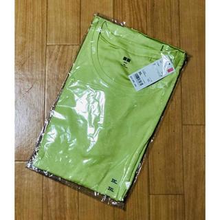 ユニクロ(UNIQLO)のユニクロ スーピマコットンモダールTシャツ グリーン 3XL(Tシャツ(半袖/袖なし))