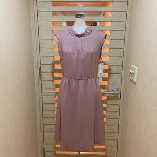 ハナエモリ(HANAE MORI)の新品 ハナエモリ(ALMA EN ROSE)ローズ系ワンピース 定価約4万2千円(ひざ丈ワンピース)
