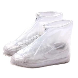 シューズカバー 防水 靴カバー 雨対策 泥除け 滑らない 靴の保護 携帯可 男女(レインブーツ/長靴)