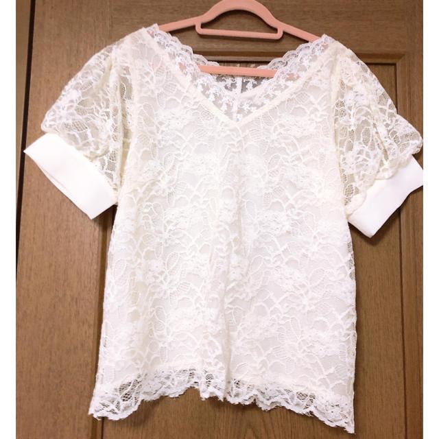 mysty woman(ミスティウーマン)のレース トップス レディースのトップス(Tシャツ(半袖/袖なし))の商品写真