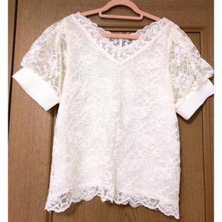 ミスティウーマン(mysty woman)のレース トップス(Tシャツ(半袖/袖なし))