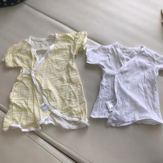 ベルメゾン(ベルメゾン)の新生児 短肌着 コンビ肌着 セット 50~60(肌着/下着)