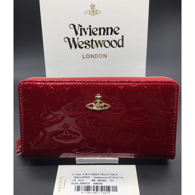 Vivienne Westwood - ヴィヴィアンウエストウッド 長財布 赤 新品 エナメル質 レッドの通販 by M's shop     |ヴィヴィアンウエストウッドならラクマ
