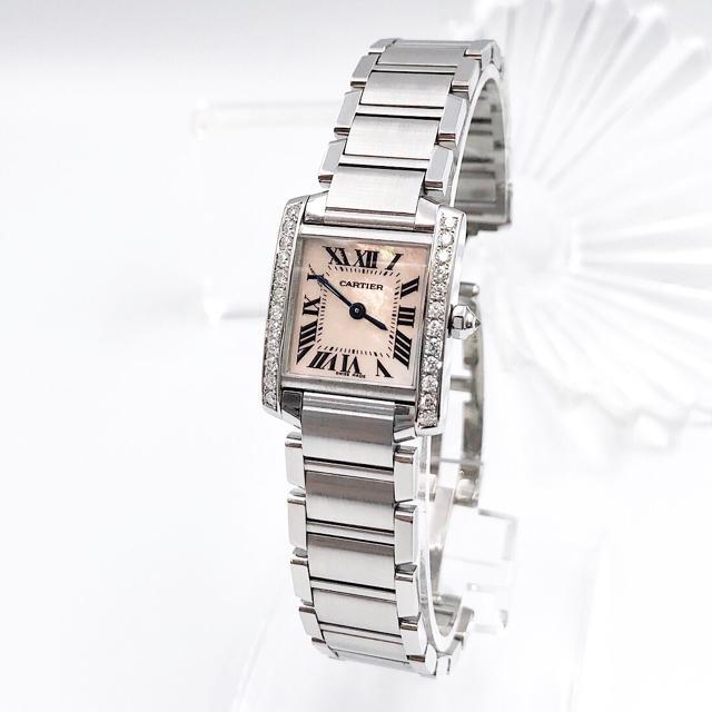Cartier - 【仕上済】カルティエ フランセーズ ピンク ダイヤ レディース 腕時計の通販 by LMC|カルティエならラクマ
