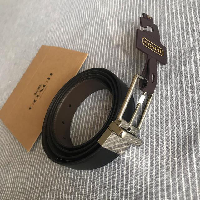 COACH(コーチ)のコーチ 新品 リバーシブル ベルト ブラック ブラウン 調節 メンズのファッション小物(ベルト)の商品写真