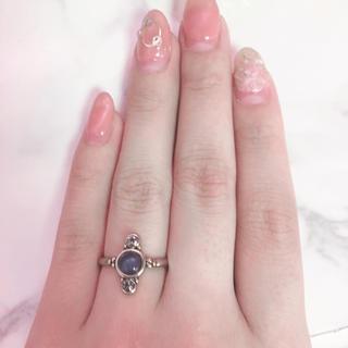 パープルストーンリング(リング(指輪))