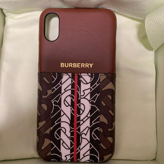 バーバリー(BURBERRY)の新品箱付き BURBERRY バーバリー 大人気 iPhone X/XS ケース(iPhoneケース)