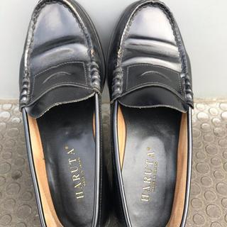ハルタ(HARUTA)のハルタレディースローファー24.5(ローファー/革靴)